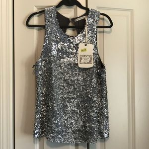 NWT Chelsea & Violet Sequin Tank